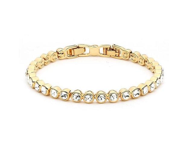 Golden Simple Crystals Bracelet