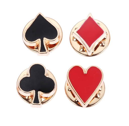 Full House Set of 4 Brooches