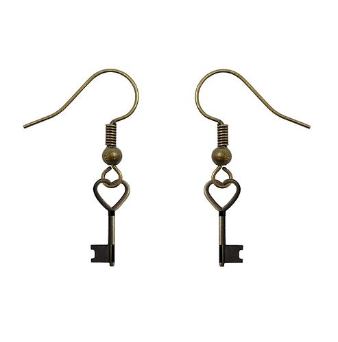 Love is the Key Vintage Earrings