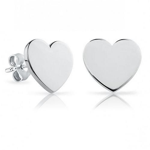 Solid Heart Earrings
