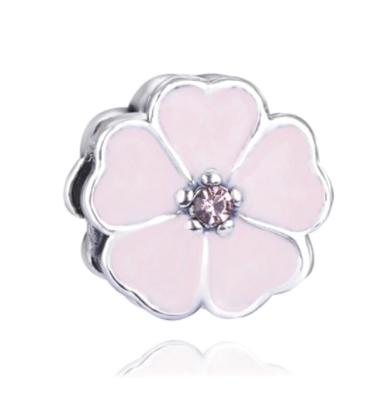 Flowery Heart Charm (Pink)
