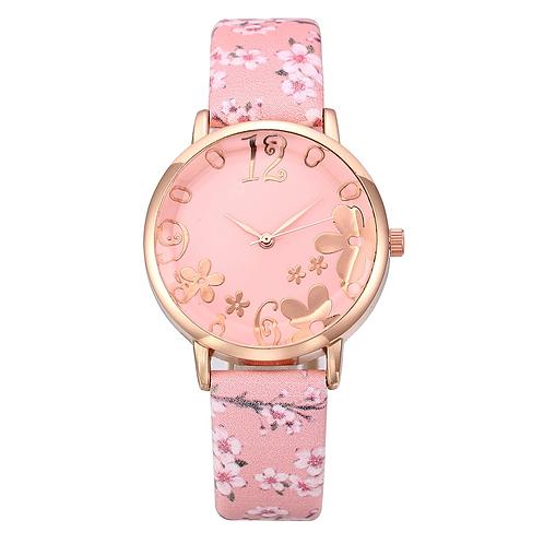 Cherry Blossom Ladies Watch (Pink)