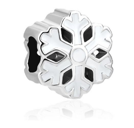 Frosted Snowflake Charm
