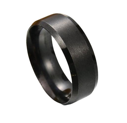 Men's Jet Black Ring (Various Sizes)