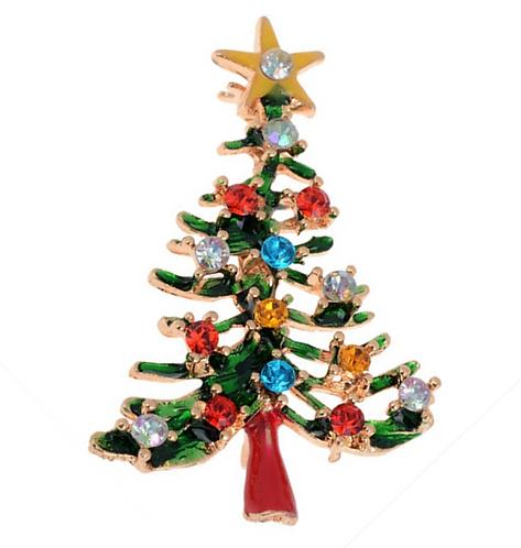 Sparkle Christmas Tree Brooch
