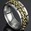 Thumbnail: Men's Golden Chain Ring (Various Sizes)