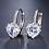 Thumbnail: Heart's Jewel Sleeper Earrings