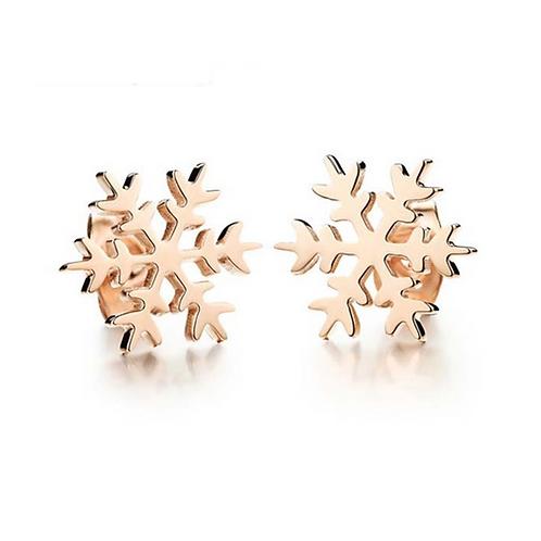 Golden Snowflake Earrings