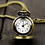 Thumbnail: Antique Bronze Vintage Flower Pocket Watch
