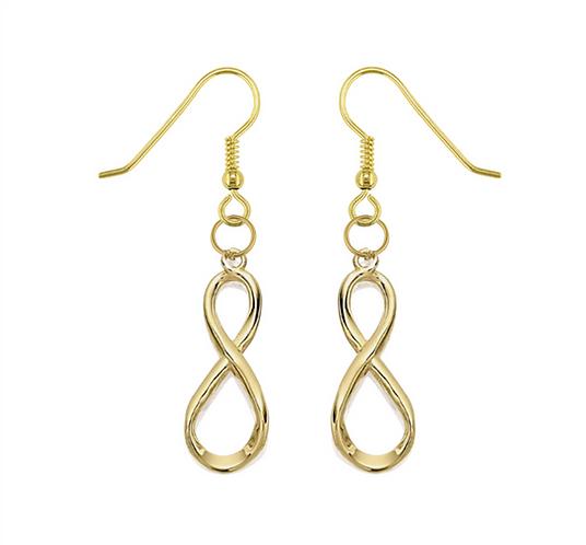 Golden Infinite Drop Earrings