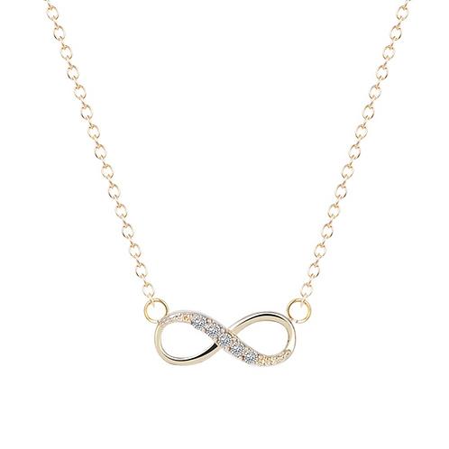 Golden Infinity Necklace