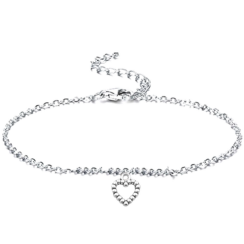 Heart Beads Anklet