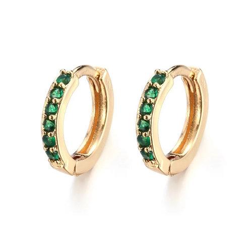 Golden Lime Crystal Sleeper Earrings