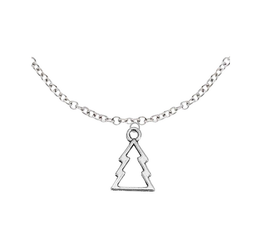 Hollow Christmas Tree Necklace