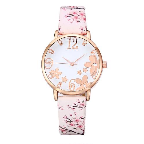Cherry Blossom Ladies Watch (White)