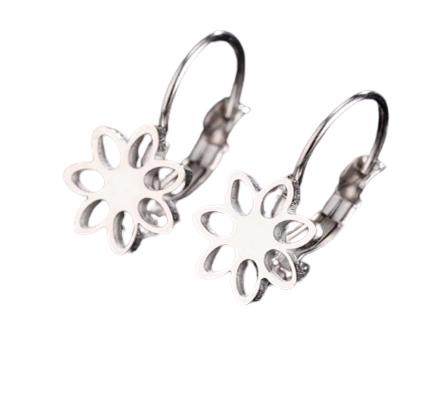 Summer Flower Clip on Earrings