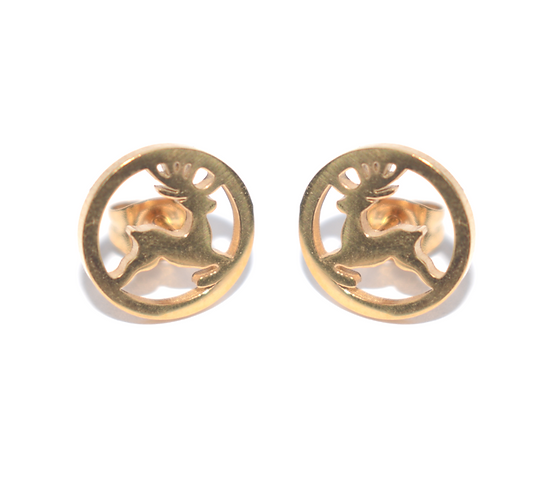 Prancing Reindeer Earrings