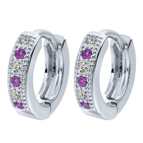 Violet Crystal Sleeper Earrings