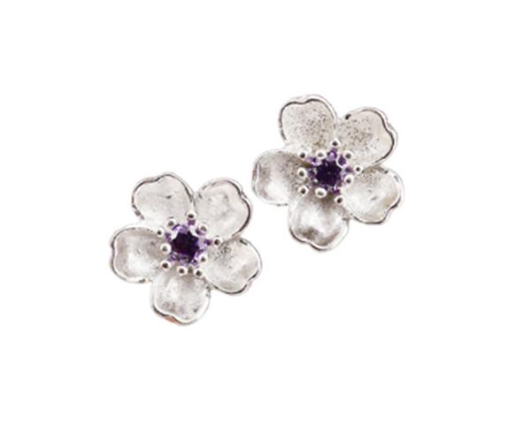 Violet Blossom Earrings