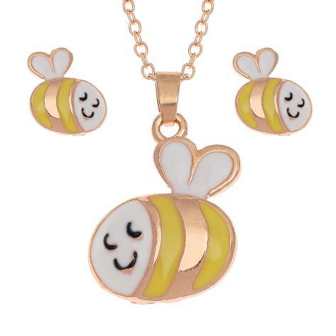 Bumblebee Necklace & Earring Set