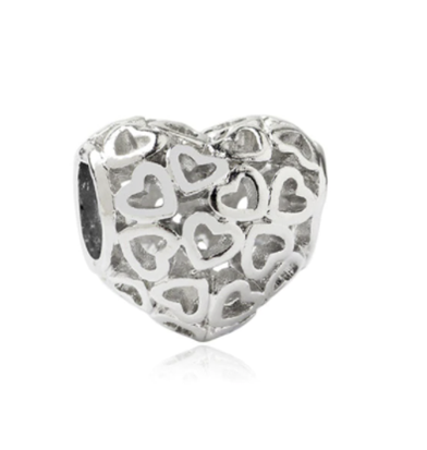 Scattered Hearts Charm