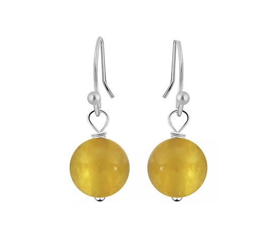 Lemon Bead Earrings