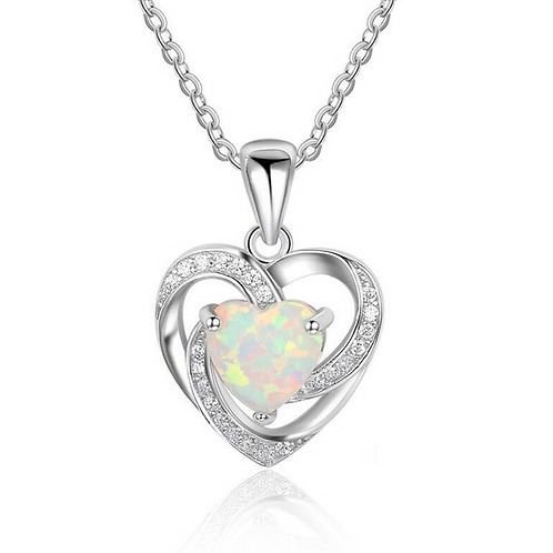 Opal Hearts Necklace