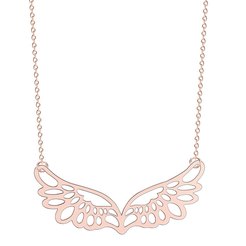 Wings of Hope Necklace (Rose Gold)