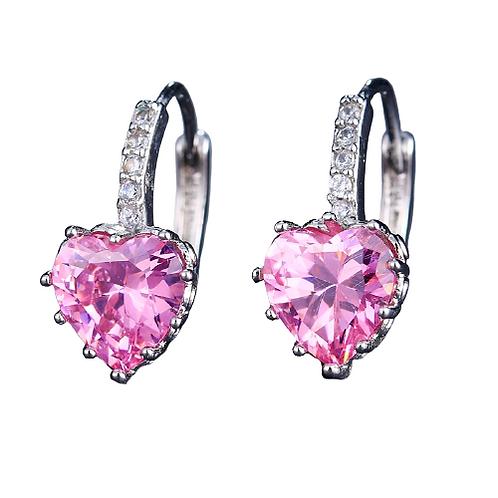 Rose Heart's Jewel Sleeper Earrings