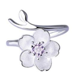 Violet Blossom Ring