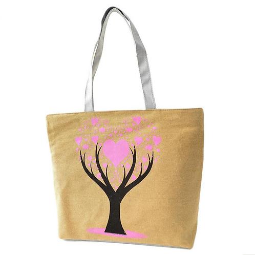 Tree of Love Tote Bag (Beige)