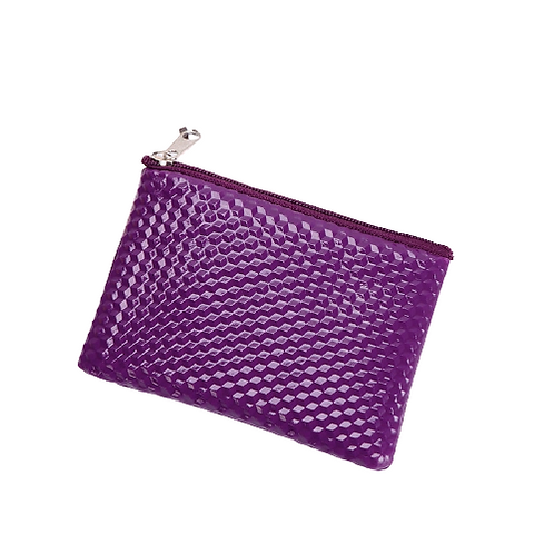 Grooved Coin Purse (Purple)