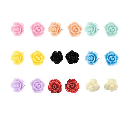 Summer Rose Earrings (Various Colours)