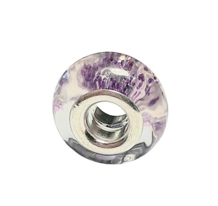 Purple Glitter Bead Charm