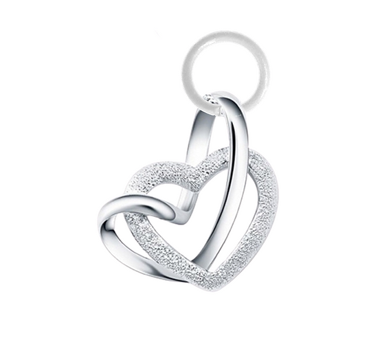 Two Hearts Hanging Charm
