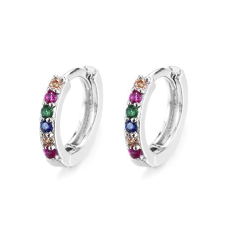 Colourful Crystals Sleeper Earrings