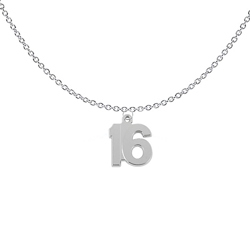 Number 16 Necklace