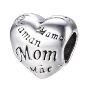 Mom's Heart Charm