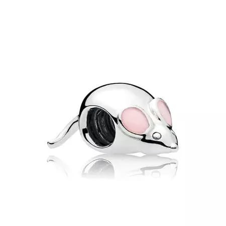 Pink Mouse Charm