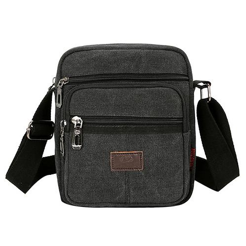 Casual Canvas Messenger Bag (Grey)