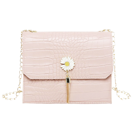 Pink Daisy Shoulder Bag