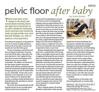 Pelvic Floor After Baby