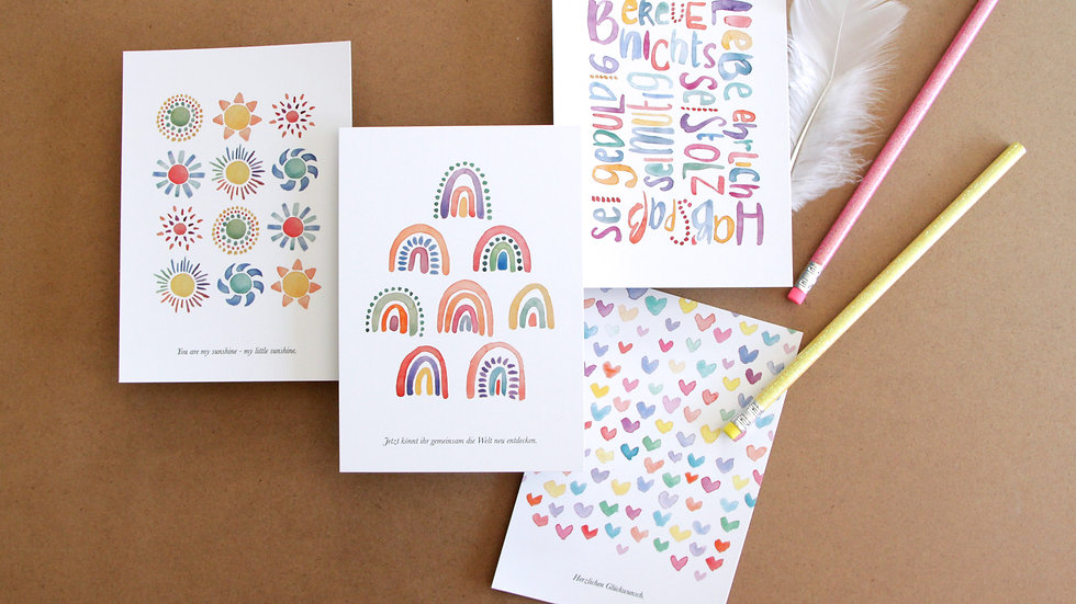"Postkarten Set ""Babymamas"""