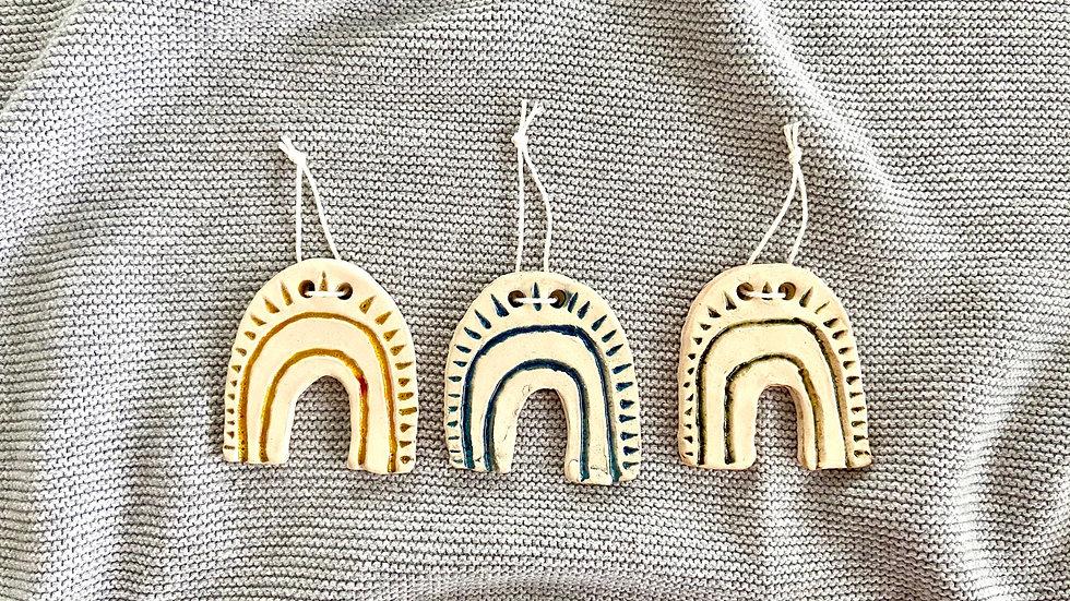 Regenbogen aus Keramik - Mini (3er Set)
