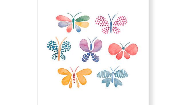 """Postkarte Schmetterling """"Gebt ganz besonders Acht auf Euer kleines Wunder."""""""