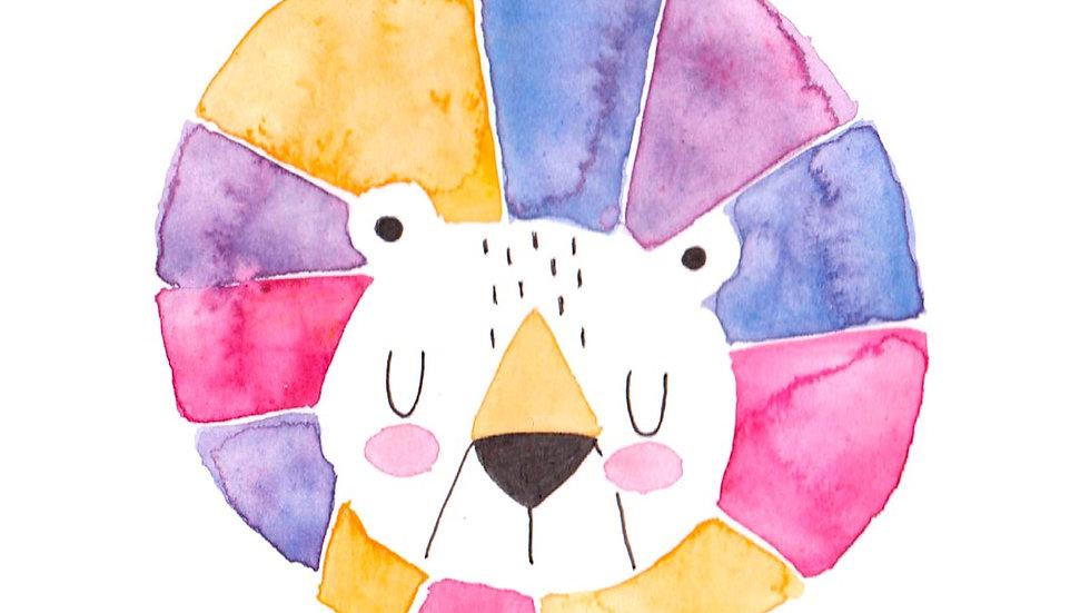 Postkarte Löwe 'Nur für dich.'