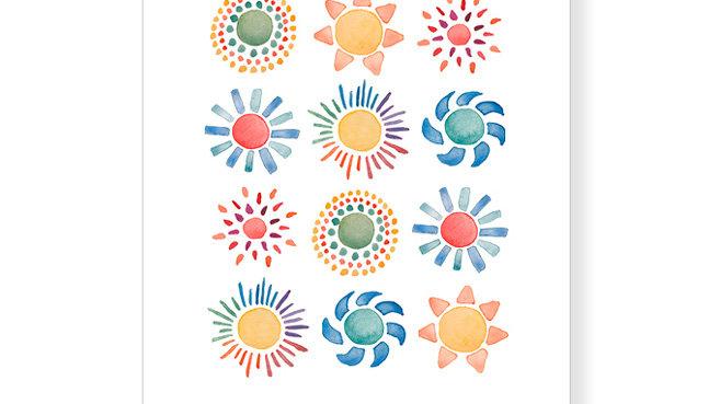 """Postkarte Sonne """"You are my sunshine - my little sunshine."""""""