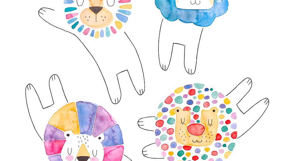 """Löwenposter """"In jedem von uns steckt ein mutiger Löwe."""", A3"""