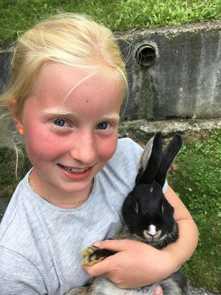 Kaninchen am Hof