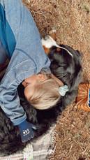 Hugo und Carolina kuscheln